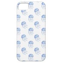 watercolor blue jellyfish beach design iPhone SE/5/5s case