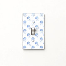 watercolor blue jellyfish beach design light switch cover