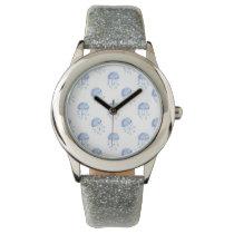 watercolor blue jellyfish beach design wrist watches