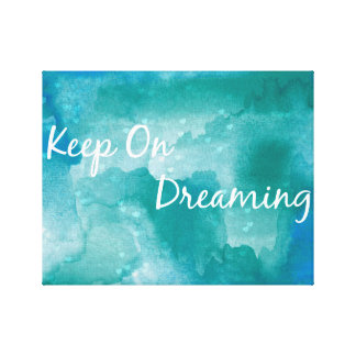 Watercolor blue painting quote canvas