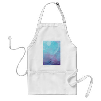 Watercolor Blue & Purple Abstract Painting Design Adult Apron