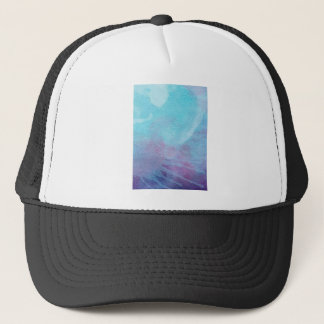 Watercolor Blue & Purple Abstract Painting Design Trucker Hat