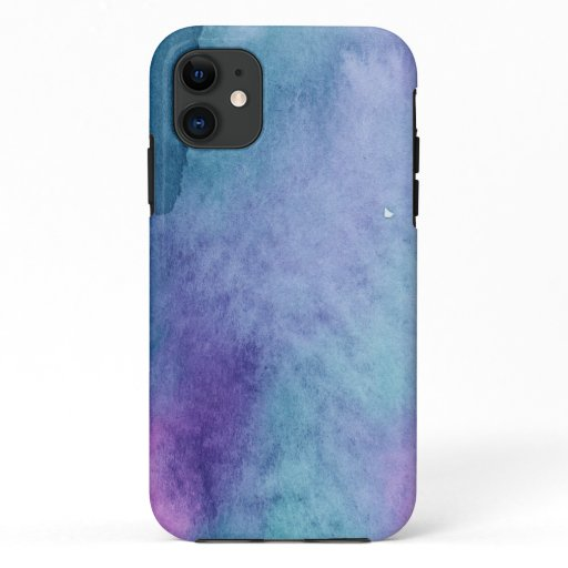 Watercolor Blue Purple  iPhone 11 Case