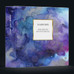 """Watercolor blue &amp; purple splatter splash personal 3 ring binder<br><div class=""""desc"""">Stylish binder for your most beautiful wedding photos,  delicious recipes,  or...  Watercolor purple &amp; blue design. Personalized binder,  you can add your own name and text.</div>"""