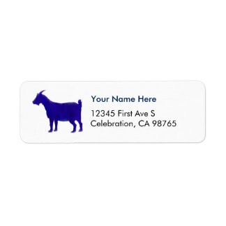 Watercolor Blue Return Address Label