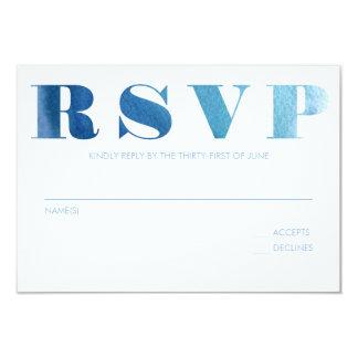 Watercolor Blue RSVP Card
