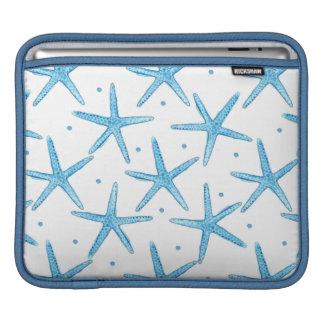 Watercolor Blue Sea Stars Pattern iPad Sleeve