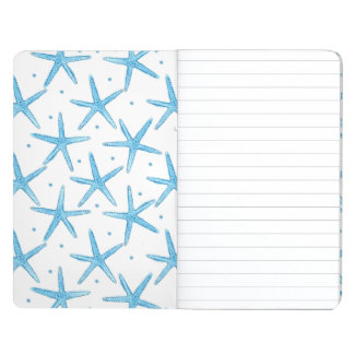 Watercolor Blue Sea Stars Pattern Journal