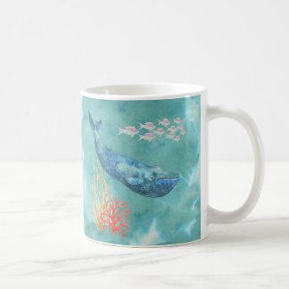 Watercolor Blue Whale ID368 Coffee Mug