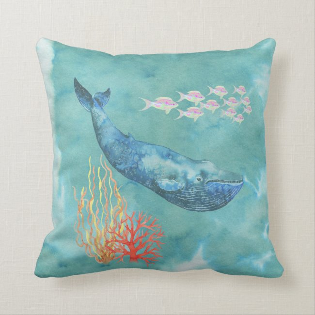 Watercolor Blue Whale ID368