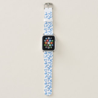 Watercolor Blue Whale Pattern Apple Watch Band