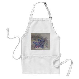 Watercolor Blueberries Apron - cricketdiane art