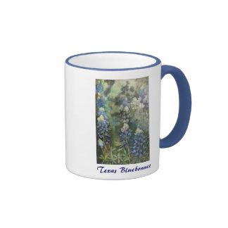 Watercolor Bluebonnets Ringer Coffee Mug
