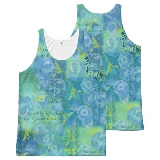 Watercolor Blues All-Over-Print Tank Top