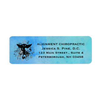 Watercolor {blues} Chiropractic Address Labels