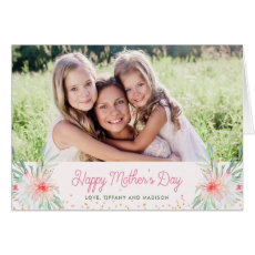 Watercolor Blush Floral | Happy Mother's Day Photo Card
