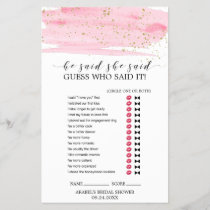 Watercolor Blush & Gold Wedding Word Search Game