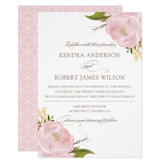 beautiful peony wedding invitation for 76 peony wedding invitation vector