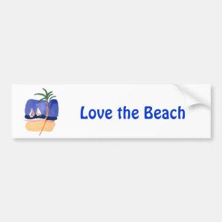 Watercolor Boats, Palm & Beach Bumper Sticker