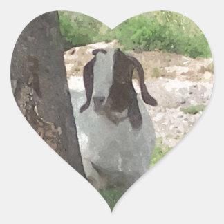 Watercolor Boer Goat Heart Sticker