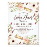 Watercolor Bohemian Flowers Baby Shower Card