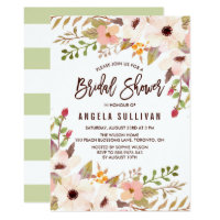 Watercolor Bohemian Flowers Bridal Shower Card