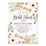 Watercolor Bohemian Flowers Bridal Shower Card