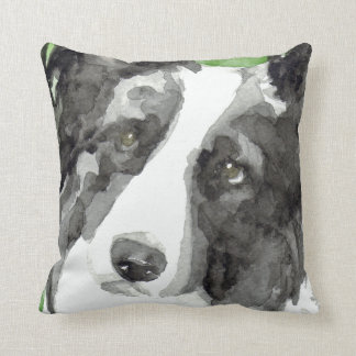 Watercolor Border Collie Gifts Pillow