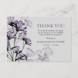 "Watercolor Botanical Bereavement Thank You Card<br><div class=""desc"">Express your gratitude with this graceful watercolor botanical card featuring lavender flowers and a gray background. (FP). The card is easy to customize with your wording, font, font color and choice of six paper types.Not exactly what you&#39;re looking for? All our products can be custom designed to meet your needs...</div>"