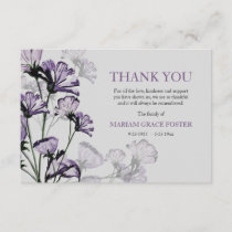 Watercolor Botanical Bereavement Thank You Card