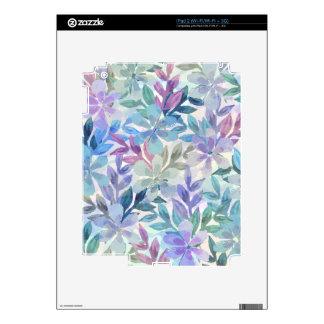 watercolor Botanical garden Decal For iPad 2