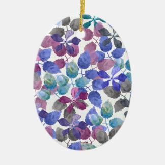 watercolor Botanical garden II Ceramic Ornament