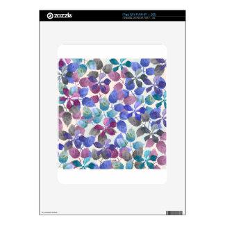 watercolor Botanical garden II Decal For iPad