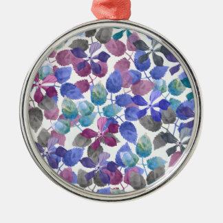 watercolor Botanical garden II Metal Ornament