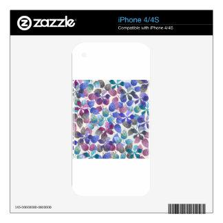 watercolor Botanical garden II Skins For iPhone 4S