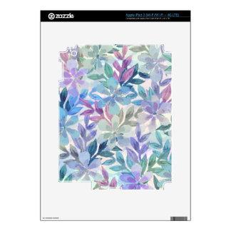 watercolor Botanical garden iPad 3 Skin