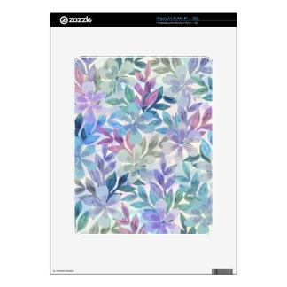 watercolor Botanical garden iPad Skin