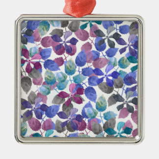 watercolor Botanical garden IV Metal Ornament