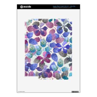 watercolor Botanical garden IV Skins For iPad 3