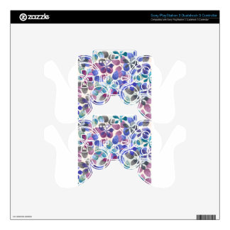 watercolor Botanical garden IV Skins For PS3 Controllers