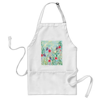 watercolor Botanical garden VI Adult Apron