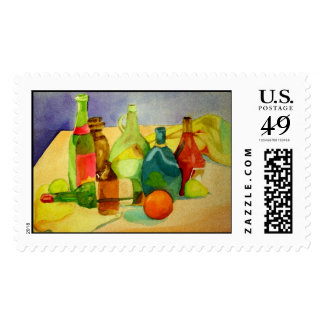 Watercolor Bottles Postage