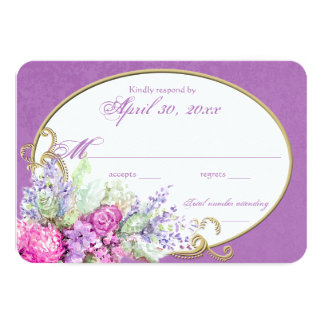 Watercolor Bouquet Wedding Reply Card