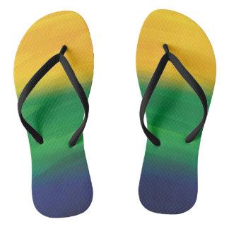 Watercolor Brazil Design Flip Flops