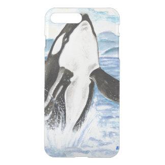 Watercolor Breaching Orca Whale iPhone 8 Plus/7 Plus Case