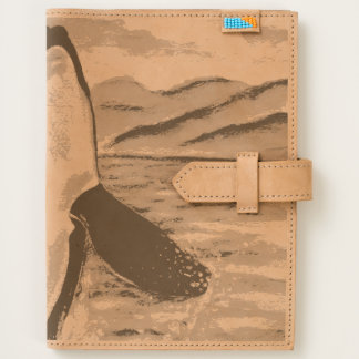 Watercolor Breaching Orca Whale Journal