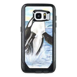 Watercolor Breaching Orca Whale OtterBox Samsung Galaxy S7 Edge Case