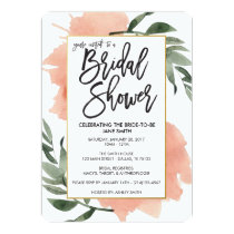 Watercolor Bridal Shower Card