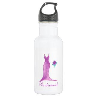 Watercolor Bridesmaid Dress 18oz Water Bottle