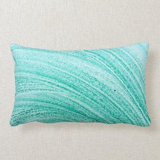 watercolor brush curved line texture lumbar pillow